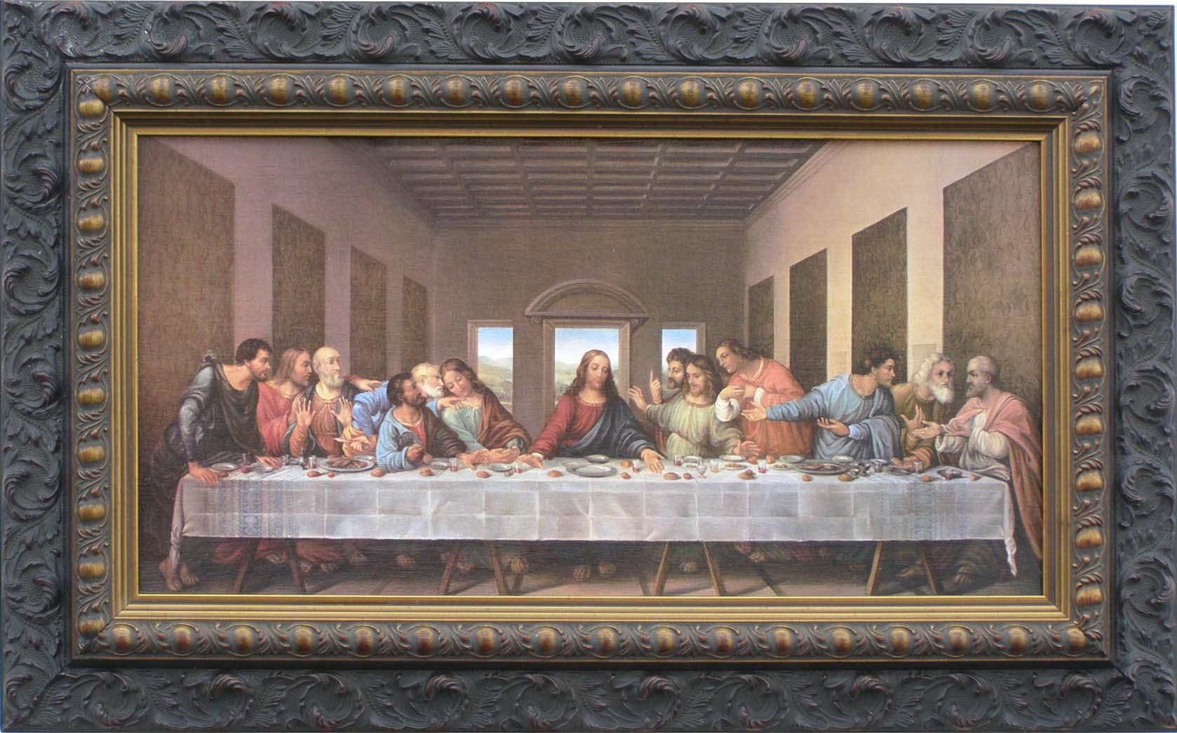 Da Vinci * Last Supper * Custom Framed Canvas Replica | eBay Da Vinci Last Supper High Resolution